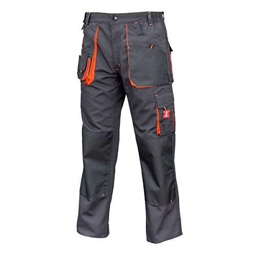 Hose Schutzhose Arbeitskleidung Arbeitshose URG-A [260g/m2], Graphit/Orange, 54 EU