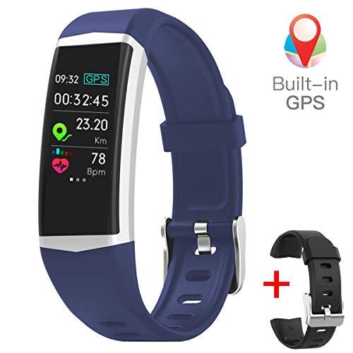 gandley Fitness Tracker Built-in GPS for Women GPS Activity Tracker IP68 Waterproof Smart Bracelet Pedometer Sport Smart Watch for Kids Men