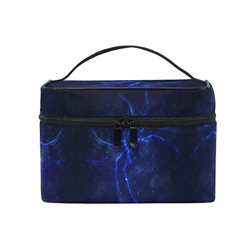 Donkerblauw spinnennet, make-up tas voor dames, make-uptas, grote meisjes, dames, make-uptassen, toilettas