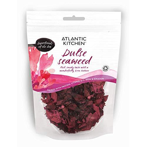 Atlantic Kitchen Dulse Getrockneter Seetang. Bio Superfood des Meeres. 40g Beuteln.