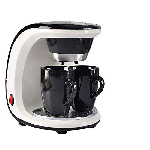 Koffiezetapparaat, draagbare kleine Amerikaanse espressomachine met dubbele kop, stoom-theeservies, huishouden