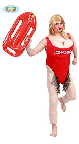 Rettungsschwimmerin Kostüm mit Busen zum Junggesellenabschied Gr. M-XL, Größe:L