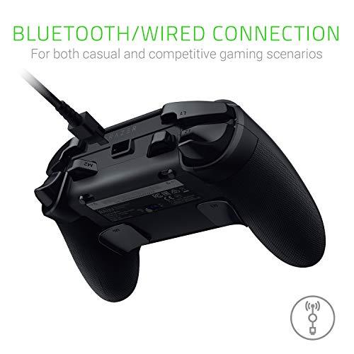 Razer Raiju Tournament Edition (2019) - Wireless and Wired Gaming Controller für PS4 + PC (Kabelgebundener und Kabelloser Bluetooth Controller, Aktionstasten, Austauschbare Sticks, Mobile App) Schwarz