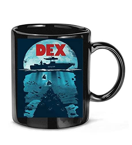 N\A Dexter TV Series Art Poster Dexter Morgan Taza de café para Mujeres y Hombres Tazas de té