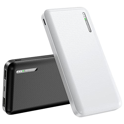 Batería Externa 10000mAh, 【2 Pack】 EVARY Cargador Móvil Portátil Batería Externa Carga Rapida Power Bank con 2 Salidas USB 2,4A para Huawei Samsung Nintendo Switch y Tabletas