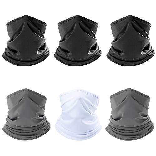 ZERDOCEAN 6Pack Face Mask Neck Gaiter Scarf Bandanas Motorcycle Balaclava Headwear Headwrap Neckwarmer