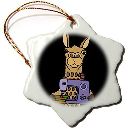 Dant454ty Grappige Cool Funky Llama met behulp van naaimachine Cartoon Kerst Ornamenten voor het Huis 2019 voor Vrouwen Vrienden Kids Kerstboom Ornament
