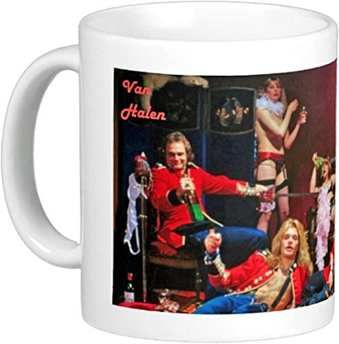 Van Ha-len Rock & Roll Coffee Mug Ed-die Heavy Metal By The Image Shark, Personalized Mug Gift Merry Xmas Gift With Handle, Insulated Ceramic Reusable Coffee Mug
