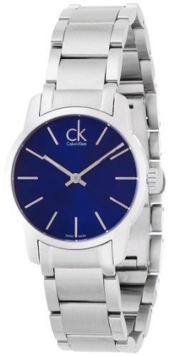 Calvin Klein Damen-Armbanduhr XS ck City Analog Quarz Edelstahl K2G2314N