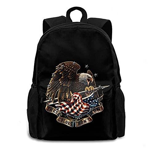 American Flag Eagle Crying Kids School Bookbag Travel Laptop Backpack For Women/Men/Girls/Business/Travel Backpack