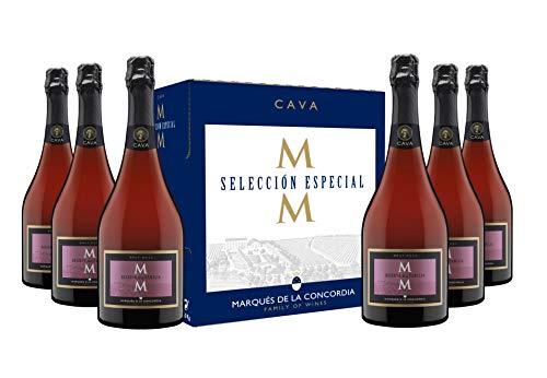 Marqués de la Concordia Caja 6 botellas -Cava Reserva Brut Rosé - 6 x 750 ml
