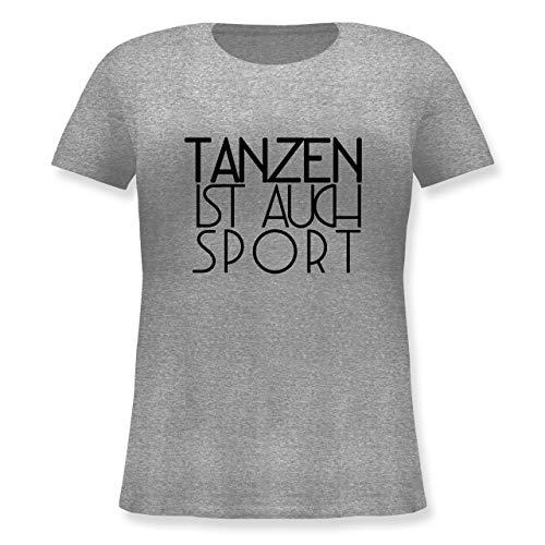 Statement - Tanzen ist auch Sport - M - Grau meliert - Musik - JHK601 - Lockeres Damen-Shirt in großen Größen mit Rundhalsausschnitt