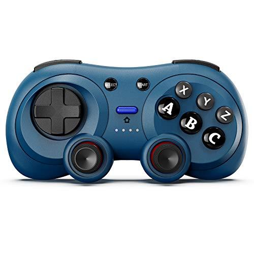 Wireless Mobile Gamepad, BestOff Mobile Game Controller Kompatibel mit Android Smartphone Wireless Game Controller mit einziehbarem Ständer, blau