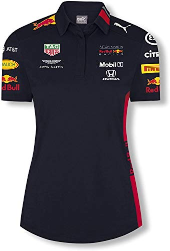 Aston Martin - Polo para mujer Sponsor F1 Racing Formula Team RB oficial azul XL