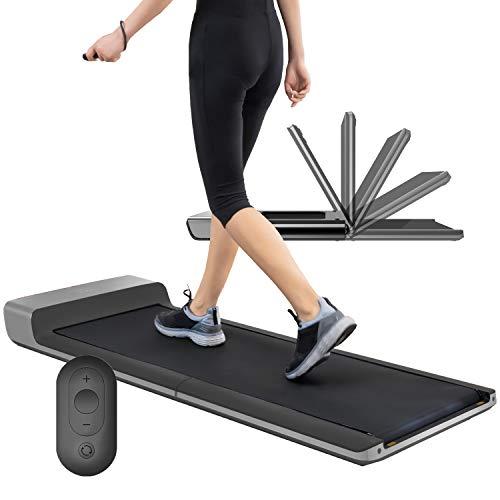 skandika Walking Pad | Deutsche Qualitätsmarke | Laufband bis 6km/h, klappbar, Adaptive Speedcontrol, breite Lauffläche, Transportrollen | für Büro oder Zuhause, Laufband für Schreibtisch