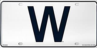 Rico Industries Chicago Cubs W Metal License Plate