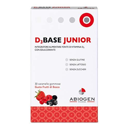 Abiogen Pharma Integratore D3 Base Junior, Frutti Bosco, 30 Caramelle