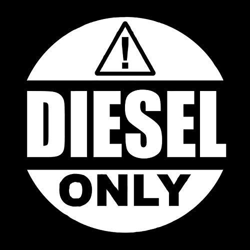 Yanxintiyu Cartello di avvertimento solo per auto diesel adesivi moda PVC camion accessori decorativi impermeabile e UV adesivi 14 x 13 cm (nome farb): bianco)