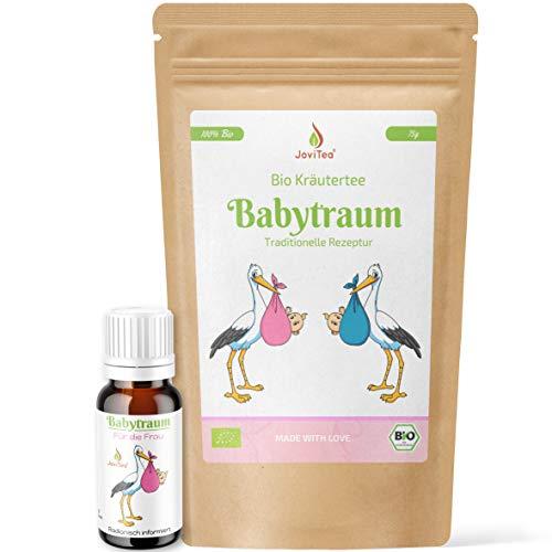 JoviTea® Babytraum BIO Tee + Babytraum Kügelchen – Traditionelle Rezeptur - spezielle Kräutermischung – aus kontrolliert biologischem Anbau. 100% natürlich -10g Kügelchen 75g Tee