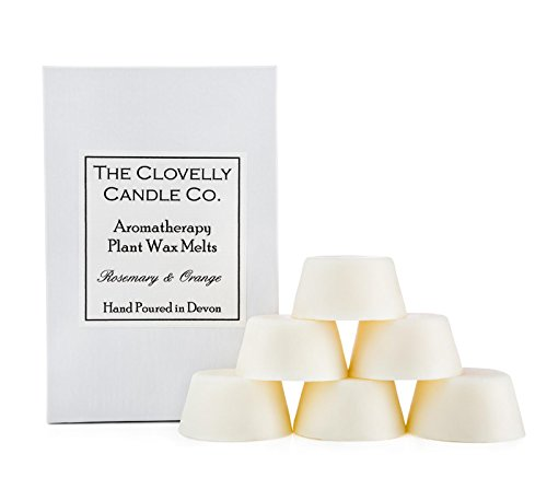 Clovelly Soap Co Confezione da 6 Tart Naturali profumate al rosmarino e Arancia, Cera di soia per aromaterapia