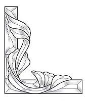 ステンドグラス用品 - ビクトリア朝コーナーベベルクラスター 右側 EC961R