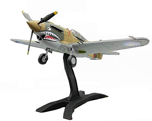 JHSHENGSHI Militärflugzeuglegierungsmodell, 1/48 WWII USA Chasseur P-40 Fighter Finished Model, Kinderspielzeug und Sammlerstücke