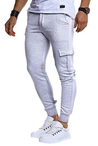 Leif Nelson heren jogger Chinos Cargo Stretch jogging heren Basic jogg cargingbroek strepen joggingbroek jongens vrijetijdsbroek jeans sweatpants strepen chinobroek slim fit LN8216