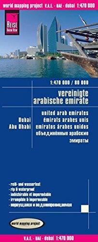 Vereinigte Arabische Emirate, Dubai, Abu Dhabi (1 : 470 000 / 1 : 80 000): with city maps - mit stadtplänen abu dhabi, dubai