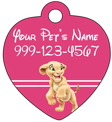 Lion King Nala Pet Id Tag for Dogs & Cats Personalized w/ Name & Number