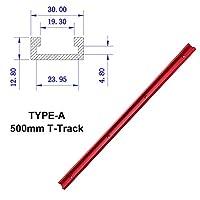 Tスロットアルミ押出プロファイルConnect Par 300-600mmアルミ合金マイタースロットマイテンシャルTトラックTバーレール DIY.木工ツール (Color : 500mm)