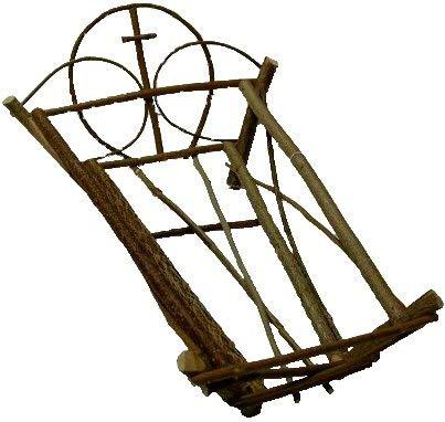 Cuna artesanal de madera para Niño Jesús(25 cm.)