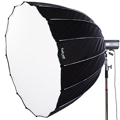 Selens Portable Parabolic Softbox 60 inches / 150 Centimeters, Hexadecagon Deep Parabola Quick Folding Softbox with Bowen Mounts for Studio Light and Speedlite Flash