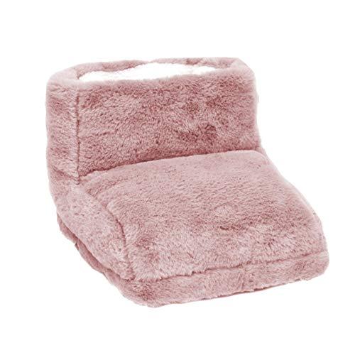 Shwet - Scaldapiedi elettrico con USB, scaldapiedi riscaldato, a temperatura costante, con fondo antiscivolo e fodera in pile rimovibile, per letto e ufficio, dormitorio (rosa)