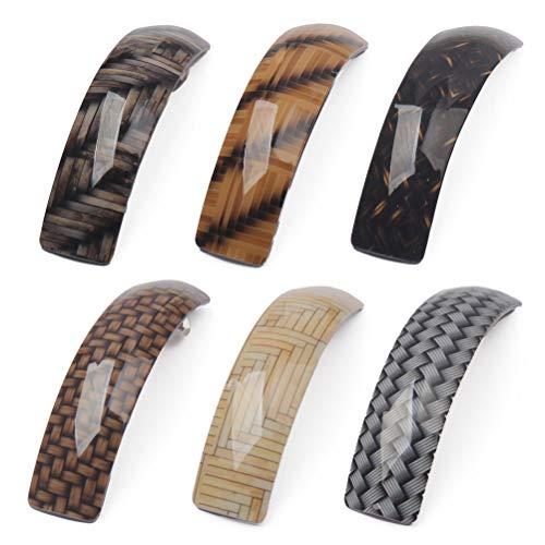 nuoshen 6 Stücke Retro Haarspangen für Damen, automatische Haarspangen für feines und mitteldickes Haar