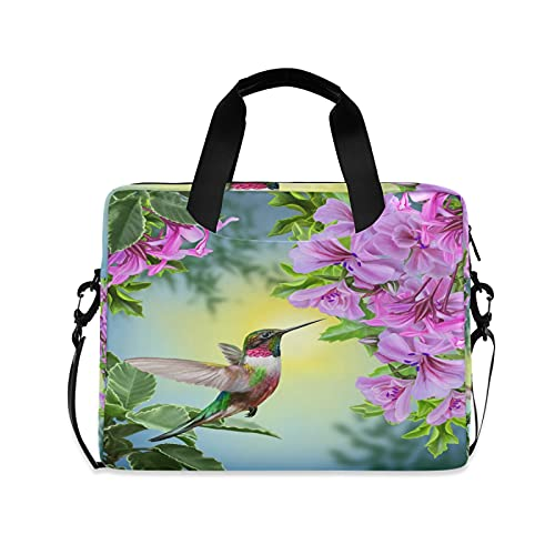 JNlover Animal Hummingbird Tropical Flower Laptop Bag 16 inch, Portable Sleeve Briefcase Laptop Case Notebook Computer Carrying Case Bag for Women Men