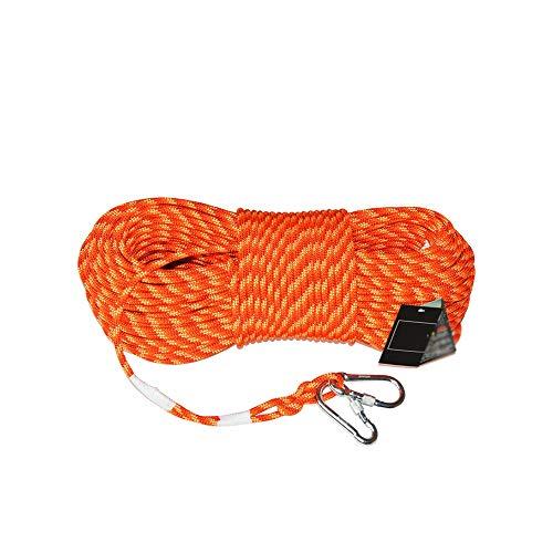 Bergseile 8mm Außen Klettern Seil, Karabiner Flechten-Seil, 3 mm Stahldraht Feuerleiter Sicherheit Rettungs Abseilen Seil (Size : 50m)