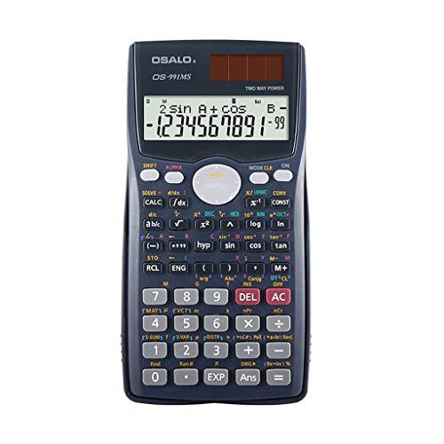 Wissenschaftlicher Rechner Grafikrechner Zählerfunktion Matrizenpunkt Vektorgleichung Berechnung Solar- und Dual-Batterie-Stromversorgung 2-zeiliges Display Gymnasiasten