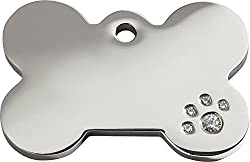 """Never rusts or corrodes Guaranteed for the life of the dog Free personalised engraving The world's best dog tag Small: measures 20mm (4/5"""") diameter. This allows for 2 lines of 12 characters"""