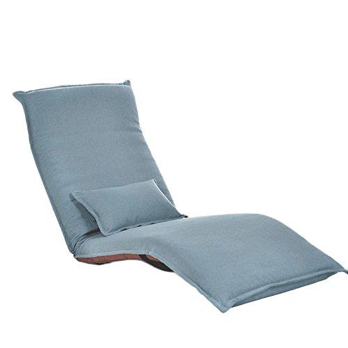 L-R-S-F Fauteuil Lounger Recliner Chaise Pliante Canapé-lit Balcon Baie Vitrée Loisirs Chaise (Couleur : Lake blue)