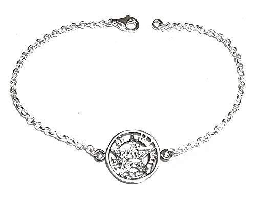 Pulsera Tetragramaton Plata de Ley. Longitud pulsera 18 cm. Estuche regalo. Pulsera Unisex