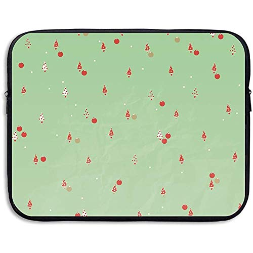 Laptop Sleeve Case Beschermende Tas Leuke Kerst Achtergrond Gedrukt Ultrabook Aktetas Sleeve Tassen Cover 15 Inch