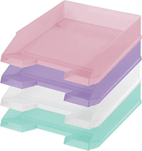 4x Herlitz Ablagekorb / Briefkorb / Briefablage / 4 verschiedene Farben