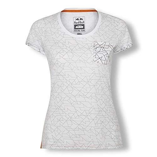 2019 RB K T M Racing MotoGP MX Damen T-Shirt Inside Out Print, weiß, Womens (XXS) 74cm/29 Inch Chest