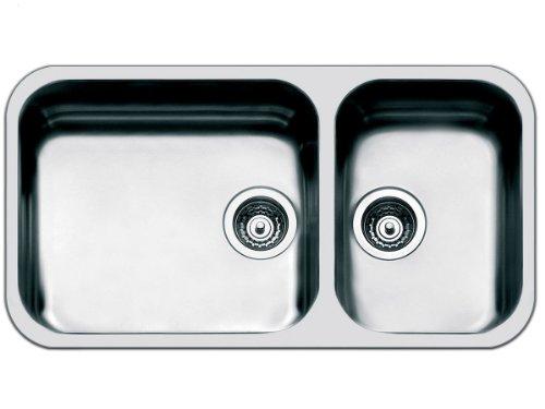 Smeg UM4530 - Fregadero (2 senos, 450 x 400 mm, 18 cm, 360 x 375 mm, 18 cm, 8,89 cm (3.5))
