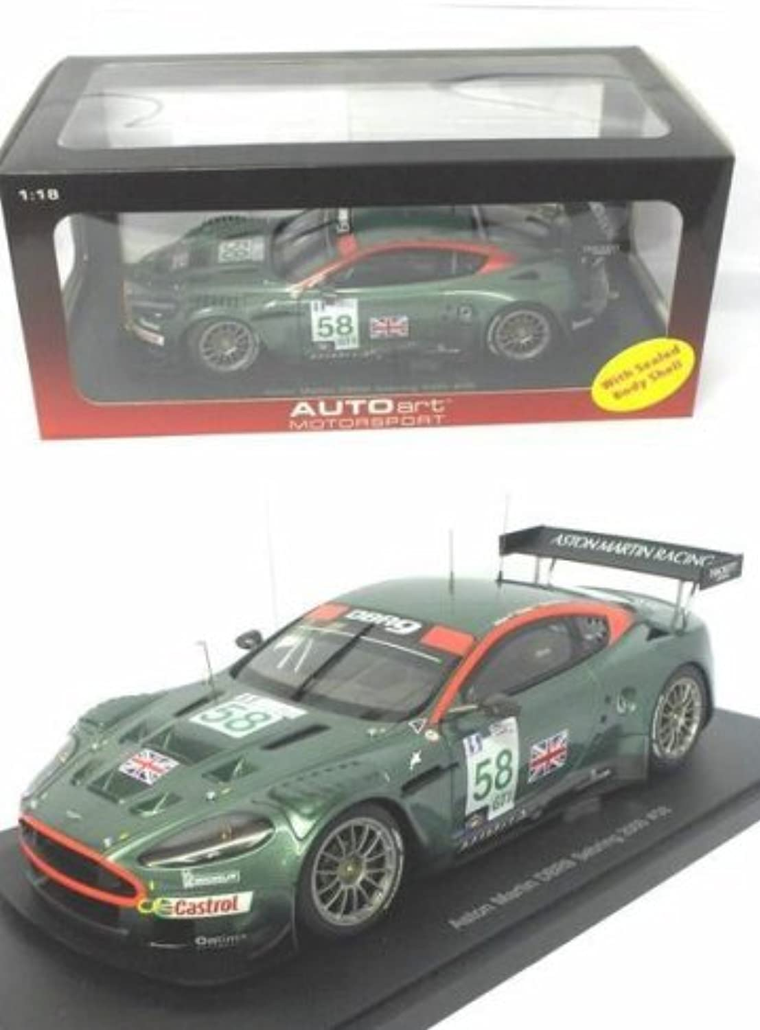 Diecast Model Aston Martin DBR9 Le Mans Number 58 (2005) in Green (1 18 scale)