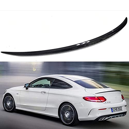 YMSHD Adecuado para Mercedes para Benz C180 C250 W205 2 Puertas Coupe C63 Spoiler 2015-2018 C205 alerón de Carbono de Rendimiento alerón de Maletero