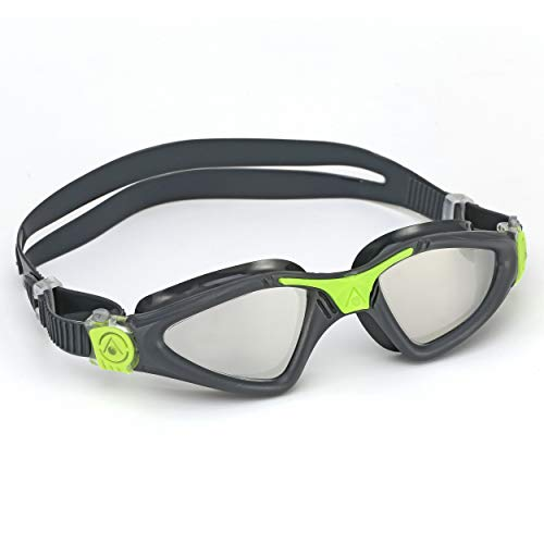 Aqua Sphere Kayenne Swim Goggles with Mirrored Lens (Gray/Lime).