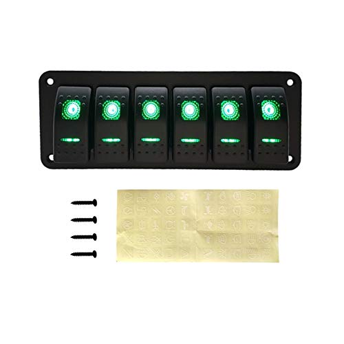Interruptores de ventana y relés de la ventana Para el camión marino Caravana Caravana Carnés de automóviles Circuito de Circuito de interruptores de interruptores de interruptor 12V LED Rocker Switch