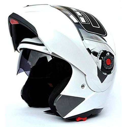 Casco integral de cara unisex modular abatible frontal ABS casco traje