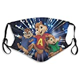 Photo de whhopily Alvin And The Chipmunks Theodore And Simon Face Cover Breathable Mouth M_Asks Reusable Windproof Scarves